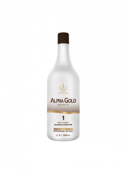 Подготавливающий шампунь для волос Alpha Gold 1 шаг (1000 мл)
