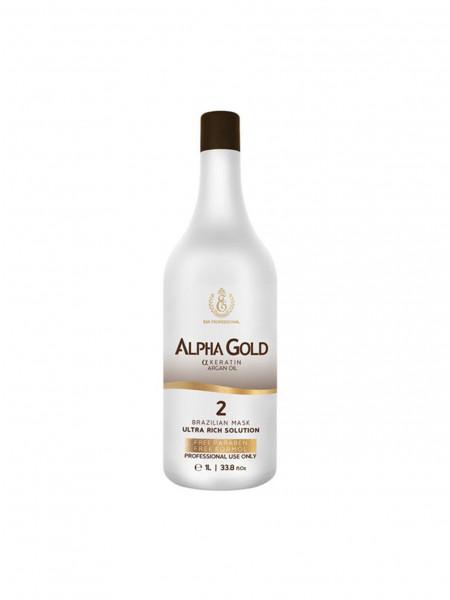 Кератин для волос Alpha Gold 2 шаг (1000 мл)