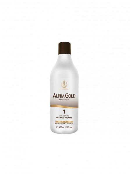Подготавливающий шампунь для волос Alpha Gold 1 шаг (500 мл)