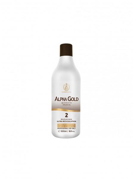 Кератин для волос Alpha Gold 2 шаг (500 мл)